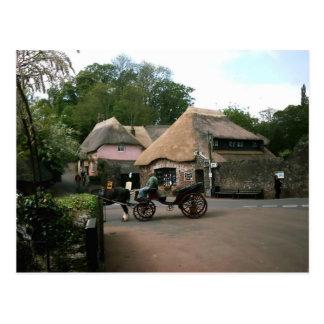 英国場面、オックスフォードシャーの村 ポストカード
