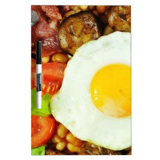 英国式朝食のデザイン ホワイトボード