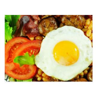 英国式朝食のデザイン 葉書き