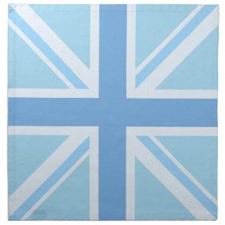 英国旗かジャックのデザインの青 ナプキンクロス