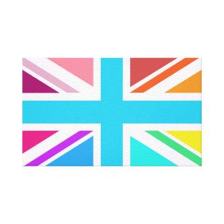 英国旗か多彩ジャックのデザイン- キャンバスプリント