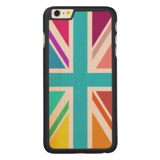 英国旗か多彩ジャックのデザイン- CarvedメープルiPhone 6 PLUS スリムケース