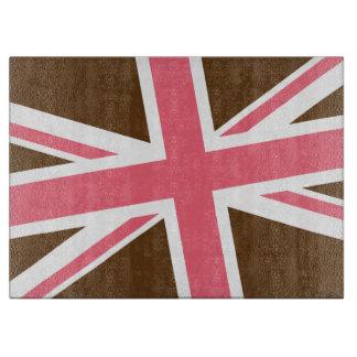 英国旗のまな板(チョコレートかピンク) カッティングボード