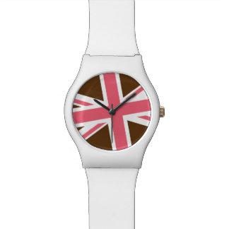 英国旗の腕時計(チョコレートかピンク) 腕時計