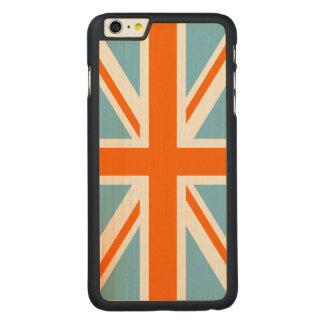 英国旗またはジャックのデザインのオレンジ白く及び青 CarvedメープルiPhone 6 PLUS スリムケース