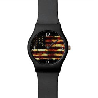 英国旗、内戦、星条旗、米国 腕時計