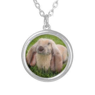 英国LOPのウサギのネックレス シルバープレートネックレス