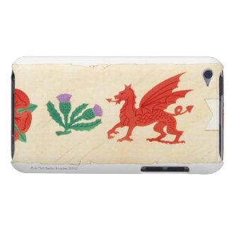 英語のイラストレーションは、スコットランドのアザミ上がりました、 Case-Mate iPod TOUCH ケース