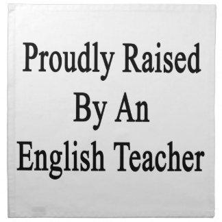 英語の先生によって得意気に上げられて ナプキンクロス