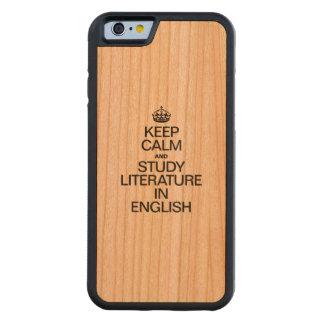 英語の穏やかなおよび勉強の文献保って下さい CarvedチェリーiPhone 6バンパーケース