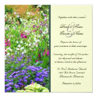 英語は結婚式招待状庭いじりをします カード