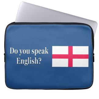 """""""英語を話しますか。""""英語で。 旗のwf ラップトップスリーブ"""