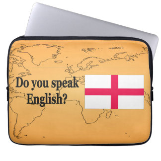 """""""英語を話しますか。""""英語で。 旗bf ラップトップスリーブ"""