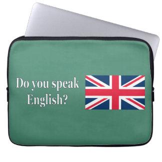 英語を話しますか。 英語。 旗のwf ラップトップスリーブ