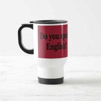 英語を話しますか。 英語。 旗bf トラベルマグ