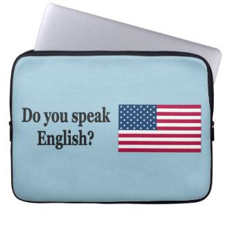 英語を話しますか。 英語。 旗bf ラップトップスリーブ