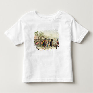 英語鼻に挨拶し、摩擦しているポリネシアの先住民 トドラーTシャツ
