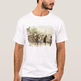 英語鼻に挨拶し、摩擦しているポリネシアの先住民 Tシャツ