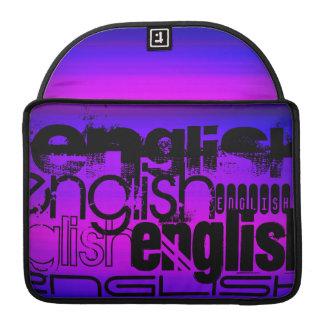 英語; 鮮やかなすみれ色の青およびマゼンタ MacBook PROスリーブ