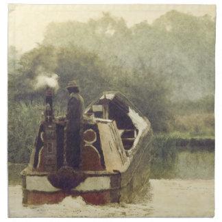 英語Narrowboat ナプキンクロス