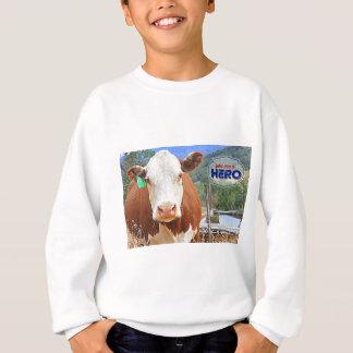 英雄です! 牛 スウェットシャツ