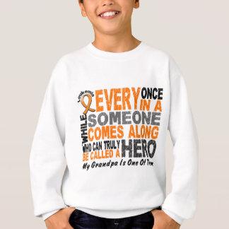 英雄によっては1つの祖父の白血病のTシャツが現れります スウェットシャツ