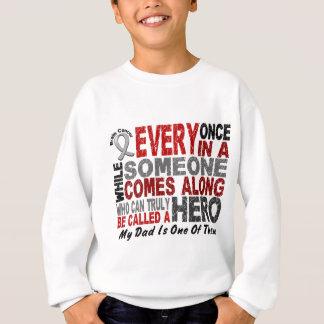 英雄によっては1人のパパの脳腫瘍のTシャツが現れります スウェットシャツ