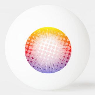 英雄のポップアートの紫色 卓球ボール