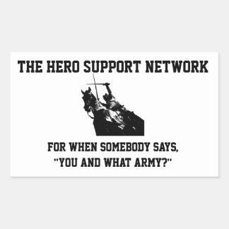 英雄サポートネットワークのステッカー 長方形シール