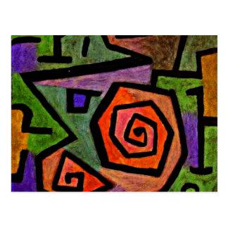 英雄的なバラ、Kleeの芸術 ポストカード