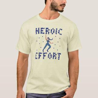 英雄的な努力ピクセル芸術のTシャツ Tシャツ