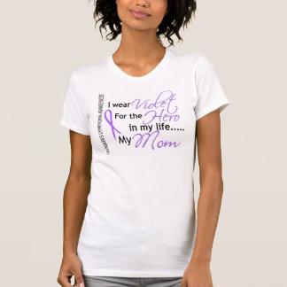 英雄1のHodgkinのリンパ腫のお母さんのためのバイオレット Tシャツ