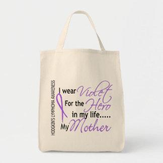 英雄1のHodgkinのリンパ腫の母のためのバイオレット トートバッグ