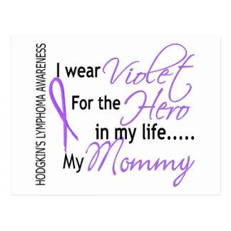英雄1のHodgkinsのリンパ腫のお母さんのためのバイオレット ポストカード