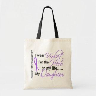 英雄1のHodgkinsのリンパ腫の娘のためのバイオレット トートバッグ