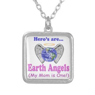 英雄-お母さんは地球の天使です シルバープレートネックレス