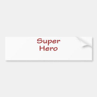 英雄 バンパーステッカー
