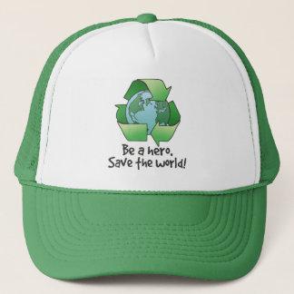 英雄、リサイクルのトラック運転手の帽子があって下さい キャップ
