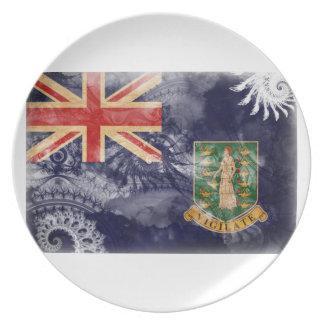 英領バージン諸島の旗 プレート