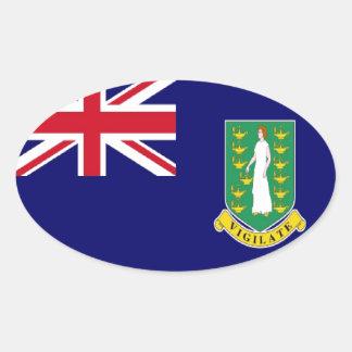 英領バージン諸島の旗 楕円形シール