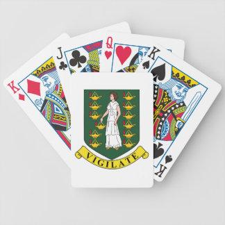 英領バージン諸島の紋章付き外衣 バイスクルトランプ