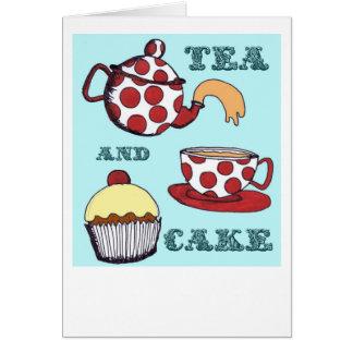茶およびケーキ カード