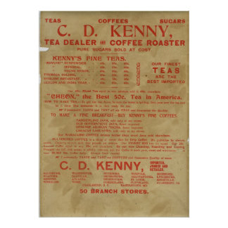 茶およびコーヒー広告1943年 ポスター