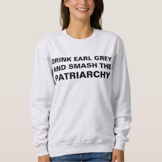 茶およびフェミニズム スウェットシャツ
