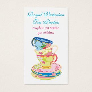 茶か陶磁器のサービス業カード 名刺