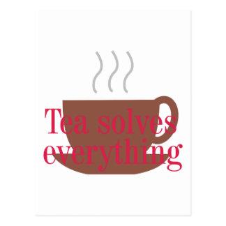 「茶すべてを」はおもしろいなことわざ解決します ポストカード
