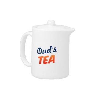 茶のための名前入りで小さく白いティーポット