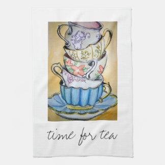 茶の時間 キッチンタオル