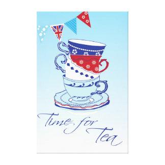 茶の時間 キャンバスプリント