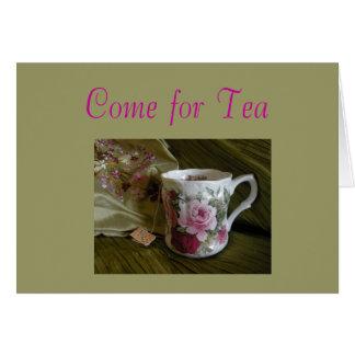 茶への招待 カード